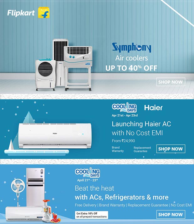 Buy Symphony Air Coolers UPTP 40% OFF from Flipkart